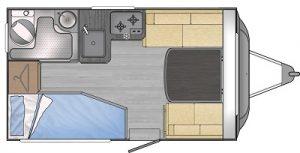 FreeCross 330DL Caravan Layout